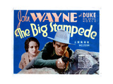 The Big Stampede, from Left, Mae Madison, John Wayne, 1932 Giclée-tryk