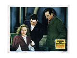 The Hound of the Baskervilles, from Left, Wendy Barrie, Richard Greene, Basil Rathbone, 1939 Giclée-tryk