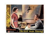 Young and Innocent, (AKA the Girl Was Young), from Left: Nova Pilbeam, Percy Marmont, 1937 Giclee Print