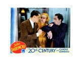 Twentieth Century, from Left, Ralph Forbes, Carole Lombard, John Barrymore, 1934 Giclee Print