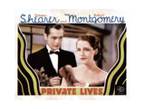 Private Lives, from Left, Robert Montgomery, Norma Shearer, 1931 Giclee Print