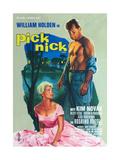Picnic, (AKA Picknick), L-R: Kim Novak, William Holden on German Poster Art, 1955 Giclee Print