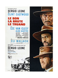 The Good, the Bad and the Ugly (AKA Le Bon, La Brute, Le Truand), French Poster Art, 1966 Giclee Print