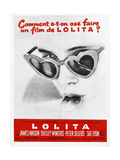 Lolita, Sue Lyon on French Poster Art, 1962 Giclee Print