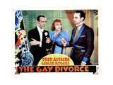 The Gay Divorcee, from Left, Fred Astaire, Ginger Rogers, Erik Rhodes, 1934 Giclee Print