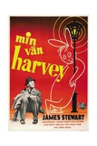 Harvey, (AKA Min Van Harvey), James Stewart on Swedish Poster Art, 1950 Giclee Print