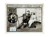 Camping Out, Roscoe 'Fatty' Arbuckle (Left and Center), Alice Lake (Right), 1919 Giclee Print