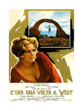 Once Upon a Time in the West, (AKA C'Era Una Volta Il West), Italian Poster, 1968 Giclee Print