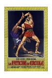 Hercules, (aka Le Fatiche Di Ercole), Steve Reeves on Italian Poster Art, 1958 Giclee Print
