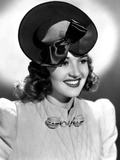 Betty Grable, Modeling a Tan Felt Hat with Brown Satin Trim, 1939 Photo