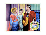 Roman Scandals, from Left, Gloria Stuart, Eddie Cantor, Alan Mowbray, 1933 Giclée-tryk