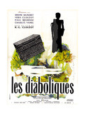 Diabolique, (AKA Les Diaboliques), French Poster Art, 1955 Giclee Print