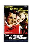 North by Northwest, (AKA Con La Muerte En Los Talones), Spanish Poster Art, 1959 Giclee Print