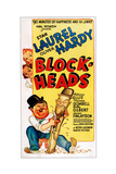 Block-Heads, Bottom from Left: Oliver Hardy, Stan Laurel, 1938 Giclee Print