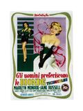 Gentlemen Prefer Blondes (aka Gli Uomini Preferiscono Le Bionde), Italian Poster Art, 1953 Lámina giclée