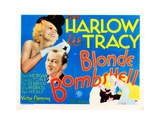 Bombshell, (AKA Blonde Bombshell), from Left: Jean Harlow, Lee Tracy, 1933 Giclee Print
