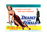 Gun Crazy, (AKA Deadly Is the Female), Title Card, from Left: Peggy Cummins, John Dall, 1949 Giclee Print