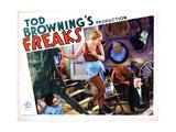 Freaks, from Left, Angelo Rossitto, Olga Baclanova, Johnny Eck, 1932 Giclee Print