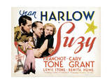 Suzy, from Left: Cary Grant, Franchot Tone, Jean Harlow (And Bottom), 1936 Giclee Print
