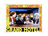 Grand Hotel, from Left, Joan Crawford, John Barrymore, Lionel Barrymore, Lewis Stone, 1932 Giclee Print