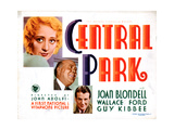 Central Park, Wallace Ford, Joan Blondell, Guy Kibbee, 1932 Giclee Print