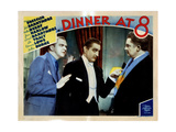 Dinner at Eight, (AKA Dinner at 8), Lee Tracy, John Barrymore, Jean Hersholt, 1933 Giclee Print