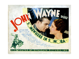 Somewhere in Sonora, from Left, John Wayne, Shirley Palmer, 1933 Giclee Print