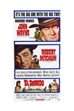 El Dorado, from Top: John Wayne, Robert Mitchum on Poster Art, 1966 Giclee Print