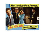 Murder, My Sweet, Dick Powell, Miles Mander, Anne Shirley, 1944 Giclee Print