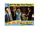 Murder, My Sweet, Dick Powell, Miles Mander, Anne Shirley, 1944 Giclee Print