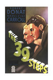 The 39 Steps, from Left: Madeleine Carroll, Robert Donat, 1935 Giclee Print