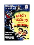 Abbott and Costello Meet Frankenstein, (AKA Contra Los Fantasmas), Spanish Poster Art, 1948 Giclee Print
