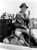 Love in on the Air, from Left, Eddie Acuff, Ronald Reagan, 1937 Photo