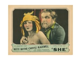 She, from Left: Betty Blythe, Heinrich George, 1925 Giclee Print