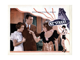 42nd Street, from Left, Ruby Keeler, George Brent, Bebe Daniels, 1933 Giclee Print
