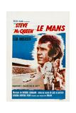 Le Mans, French Poster, Steve Mcqueen, Elga Andersen, 1971 Giclee Print