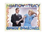 Bombshell, (AKA Blonde Bombshell), from Left, Lee Tracy, Jean Harlow, 1933 Giclee Print