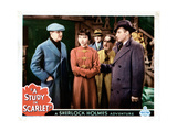 A Study in Scarlet, from Left:Warburton Gamble, Anna May Wong, Alan Mowbray, 1933 Giclee Print