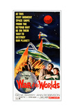 The War of the Worlds, Bottom from Left: Gene Barry, Ann Robinson on 1965 Poster Art, 1953 Giclee Print
