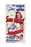 Sun Valley Serenade, from Top: Sonja Henie, John Payne, Glenn Miller, 1941 Giclée-tryk