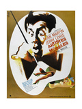Artists and Models, (AKA Artistes Et Modeles), Jerry Lewis on French Poster Art, 1955 Giclee Print