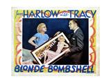 Bombshell, (AKA Blonde Bombshell), from Left, Jean Harlow, Lee Tracy, 1933 Giclee Print