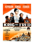 War and Peace, (AKA Krig Og Fred), 1956 Giclee Print