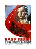 Easy Rider, Italian Poster Art, from Top: Jack Nicholson, Peter Fonda, Dennis Hopper, 1969 Giclee Print