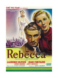 Rebecca, L-R: Laurence Olivier, Joan Fontaine on Belgian Poster Art, 1940 Giclee Print