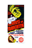 House of Frankenstein, from Top: Boris Karloff, Bottom: Anne Gwynne, 1944 Giclee Print
