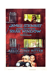 Rear Window, Grace Kelly, James Stewart, 1954 Impression giclée