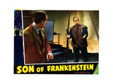 Son of Frankenstein, from Left: Basil Rathbone, Boris Karloff, 1939 Giclee Print