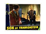Son of Frankenstein, from Left: Basil Rathbone, Boris Karloff, 1939 Giclee Print