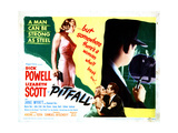 Pitfall Lizabeth Scott, Dick Powell, 1948 Giclée-tryk
